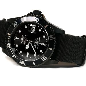 Invicta 27630 Automatic Black IP Black Canvas Band Watch