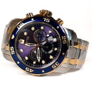 Invicta 0077 Pro Diver Chronograph Blue Dial Watch