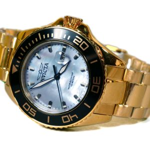 Invicta 23071 Gold Tone Mother of Pearl Dial Watch