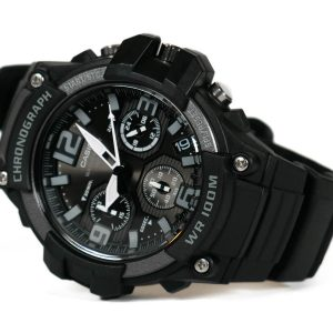 Casio MCW-100H-1A3V Heavy Duty Chronograph Watch with Resin Strap