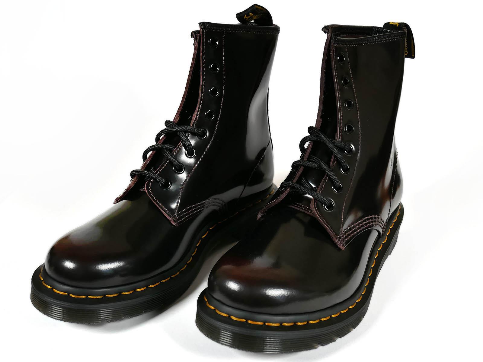 Black Dr Martens 1460 Patent Ankle Boots Womens